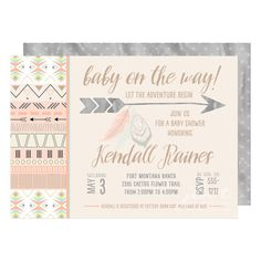 Boho Chic Aztec Baby Shower Invitations By JenTbyDesign On Etsy