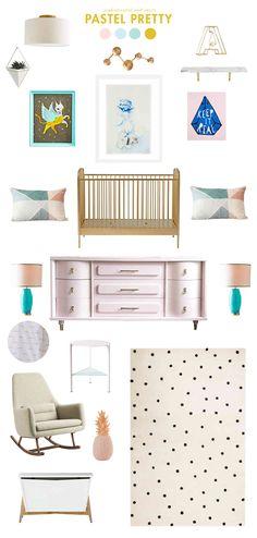 pastel pretty baby room ideas