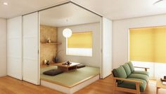 Floor Chair, Divider, House Design, Flooring, Living Room, Places, Modern, Japanese Style, Furniture