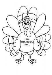See More I Am Thankful For Printable Turkey