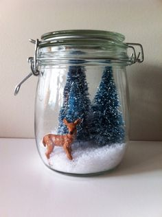 used this idea as a craft mom & I made for Christmas gifts last year. Holiday Time, Christmas Holidays, Xmas, Diy Snow Globe, Snow Globes, Diy Crafts For Gifts, Arts And Crafts, Creative Crafts, Christmas Fairy