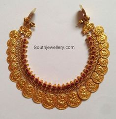 Kasulaperu latest jewelry designs - Page 9 of 46 - Indian Jewellery Designs Gold Chain Design, Gold Jewellery Design, Gold Jewelry Simple, Necklace Designs, Indian Jewelry, 1 Piece, Bridal Jewelry, Fashion Jewelry, Temple Jewellery