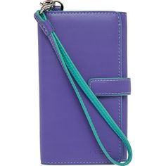 Lodis Audrey Lily Phone Wallet Women's ($59) ❤ liked on Polyvore featuring bags, wallets, ladies wallet on a string, ladies wallets, purple, lodis bags, blue bag, snap closure wallet, lodis and lodis wallet