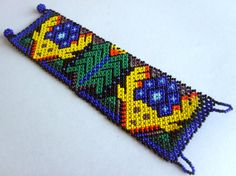 Mexican Huichol Beaded peyote deer and corn bracelet by Aramara, $19.50