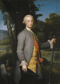 Carlos IV, príncipe de Asturias by Anton Raphael Mengs (ca. 1765). Love, love, love this painting.