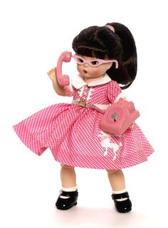 pink ~   Madame Alexander -Chatterbox Wendy. Remember Poodle skirts and cat's eye glasses ? Then you must have been a Baby Boomer !