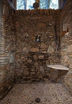 Maybe an outdoor shower idea...