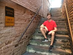 Don't just walk down the historic steps. Pose with them!