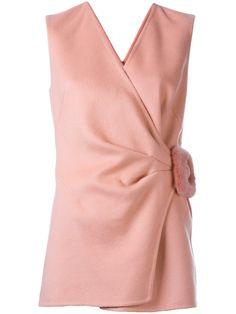 Ermanno Scervino buckled detail sleeveless blouse