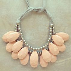 Pale pink teardrop necklace