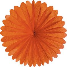 "19"" Tissue Paper Medallion - Orange"