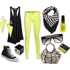 NEON punk., created by lissy-rose-erickson.polyvore.com