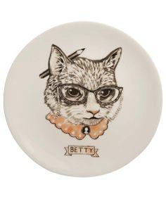 Welovekaoru Betty Alley Cat Plate | Kitchen and Dining by Welovekaoru | Liberty.co.uk