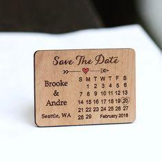 Calendrier enregistrer les aimants Date - Laser cut et gravé sur bois