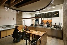 """smart  """"lighting"""" solution  Cava Grill by Core Architecture, Bethesda"""