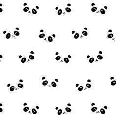 Tissus 100% coton motif imprimé happy panda