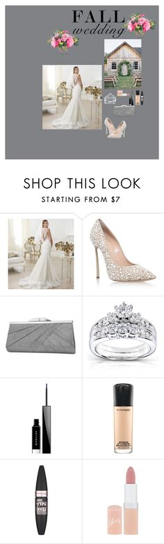 """Fall Wedding"" by gsfstyle ❤ liked on Polyvore featuring Beautiful Wedding, Casadei, Jessica McClintock, Kobelli, Givenchy, MAC Cosmetics, Maybelline, Rimmel, NDI and fallwedding"