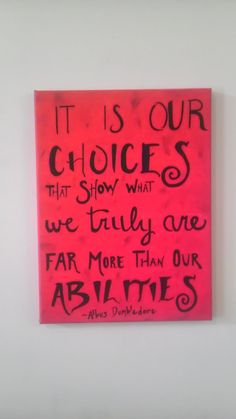 It is our Choices...- Harry Potter Painting on Canvas on Etsy, $20.00