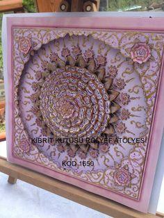 Rölyef Çalışması Islamic Relief, Islamic Art, Painting Patterns, Pattern Design, Decoupage, Diy And Crafts, Decorative Boxes, Home Decor, Mandalas