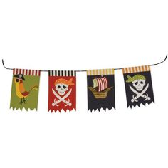 Pirate party garland from Beau-coup. $10