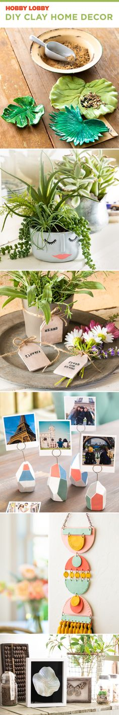 Simple DIY clay crafts you can mold to fit your style, from clay planters to photo holders.
