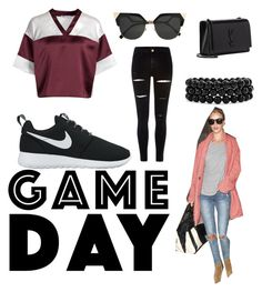 """Game Day!"" by absolutely-mia on Polyvore featuring T By Alexander Wang, River Island, NIKE, Yves Saint Laurent, Fendi, Kerr® and Bling Jewelry"