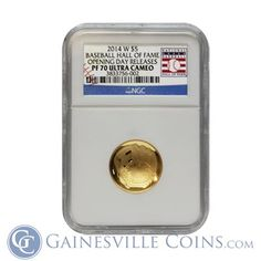 NEW ARRIVAL! 2014-W $5 Baseball Hall Of Fame Gold NGC PF70 Opening Day Releases Gold And Silver Coins, Gold Bullion, Opening Day, Baseball, Box, Grand Opening, Baseball Promposals, Openness, Boxes
