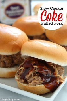 This Slow Cooker Coke Pulled Pork recipe will be perfect for an easy weeknight meal. Or add your pork to some slider rolls for some mini sandwiches to enjoy