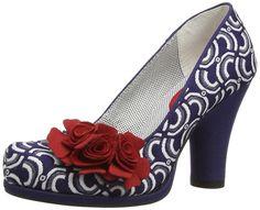 Ruby Shoo Womens Eva Court Shoes 08722 Blue 5 UK, 38 EU