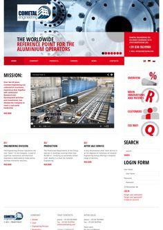 Cometal - Sito Internet BtoB #webdesign www.cometaleng.eu/en