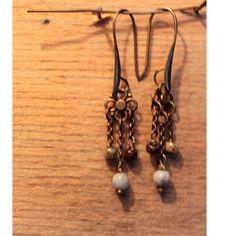 Boucles d'oreilles, 3 pendants