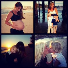Family photos mother & sons beach sunsets pregnancy maternity photo love