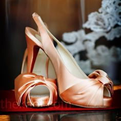 Jenna's peach-colored Christian Louboutins matched her gown's sash.