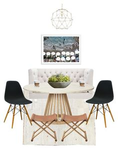 """beachy breakfast nook."" by sarah-k-king on Polyvore"