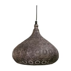 Eglo 49714 | Melilla Antique Silver Vintage Moroccan Style Pendant 285mm – Discount Home Lighting