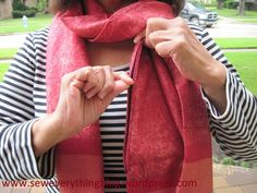 Sewing expert, Samina Mirza shows you how to make a scarf with a hidden pocket for moms on the go with step by step sewing instructions.