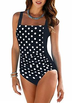 84c8d74c7f7ae Plus Size Swimwear Female Polka Dot One Piece Swimsuit Women Vintage Bathing  Suit One-Piece Suit 2018 Retro Large Size Swimsuits