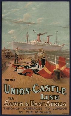 Union-Castle Line • South & East Africa ~ Maurice Randall