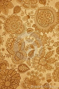 Gorg golden vintage wall paper print.