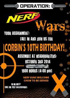 Nerf War Invite