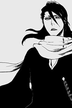 Kuchiki Byakuya from Bleach - I used to really hate him at first but now that I've learned about his past I kinda like him Bleach Anime, Bleach Art, Bleach Characters, Anime Characters, Manga Art, Manga Anime, Shinigami, Monochrom, Anime Guys