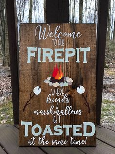 Graduation Signs Discover Welcome to our Firepit where Friends & Marshmallows get toasted Fire Pit sign Campfire Sign Backyard sign Bonfire Sign Firepit Sign Backyard Signs, Patio Signs, Pool Signs, Outdoor Signs, Fire Pit Backyard, Backyard Landscaping, Fire Pit Gazebo, Fire Pit On Wood Deck, Outdoor Welcome Sign