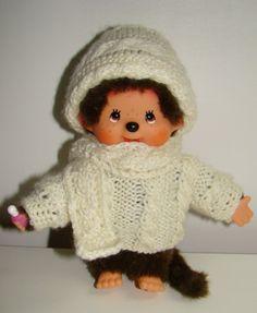 pull irlandais bonnet et écharpe Kiki Le Singe, Monkey, Winter Hats, Crochet Hats, Dolls, Retro, Diy, Couture, Baby Bunnies