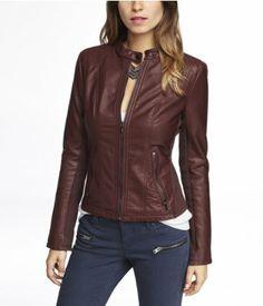 (MINUS THE) LEATHER DOUBLE PEPLUM MOTO JACKET | Express I think I may NEED this jacket!