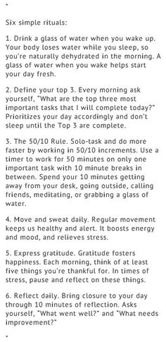 6 Simple Rituals to Improve Life Self Care Activities, Self Improvement Tips, Self Care Routine, Life Advice, Self Development, Better Life, Self Help, Good To Know, Happy Life