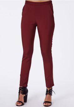 Suellen Cigarette Trousers - Trousers - Missguided