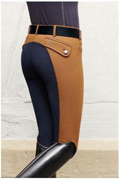 Pikeur Jasha Premium Collection Contrast Ladies Breeches in Mustard / Night Blue