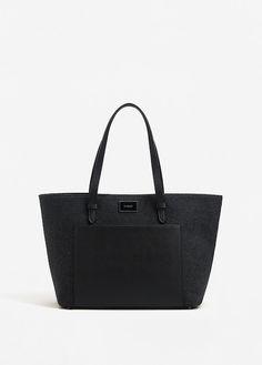 Wool-blend shopper bag