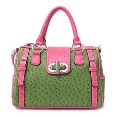 Pretty Pink and Green Handbag Pink Love, Pink And Green, Pretty In Pink, Alpha Kappa Alpha Sorority, Aka Sorority, Pink Apple, Green Handbag, Sorority Gifts, Green Fashion