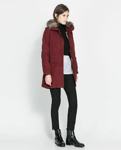 Image 1 of HOODED COTTON PARKA from Zara